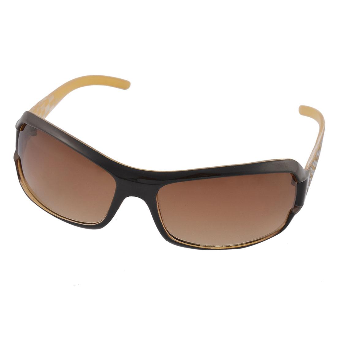 Women Plastic Full Rim Single Bridge Lens Outdoor Driving Eyewear Sunglasses