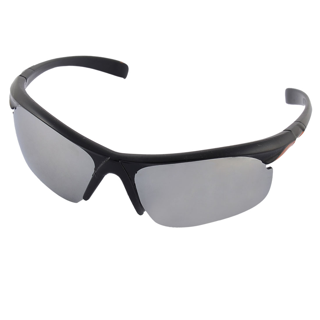 Plastic Half Rimless Colored Lens Nose Pad Sports Sunglasses Eyeglasses