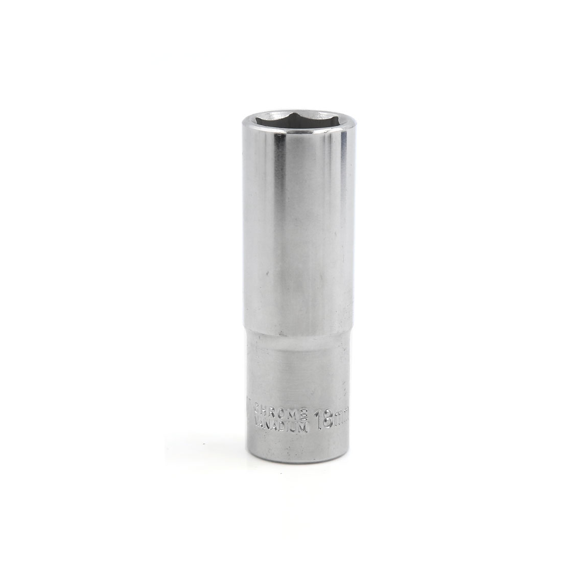 "Chrome Plated Vanadium Steel 1/2"" Square Drive 18mm Hexagon Hex Six Point Socket"