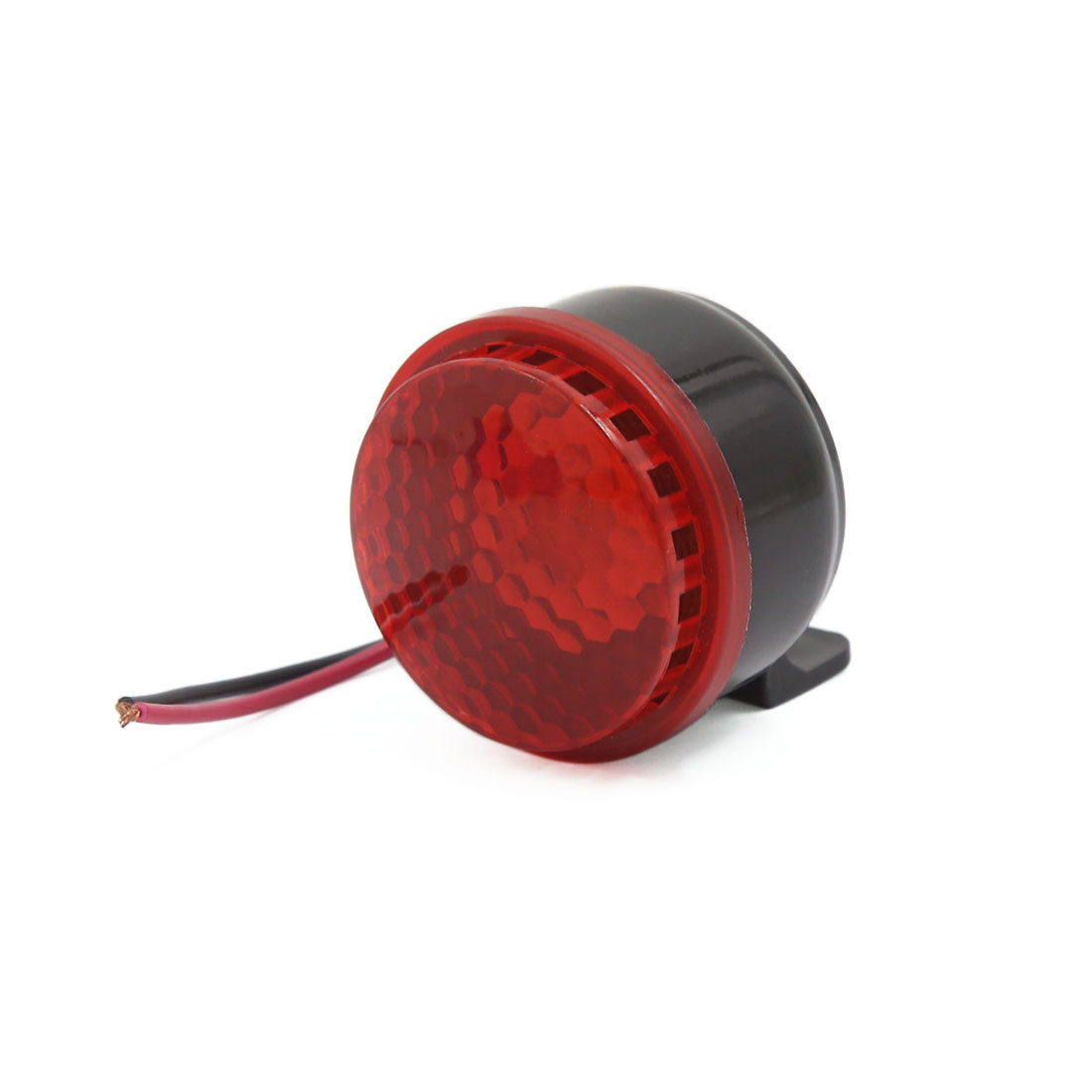 DC 12V Red LED Light 6 Tones Car Motorcycle Brakes Horn 105 db