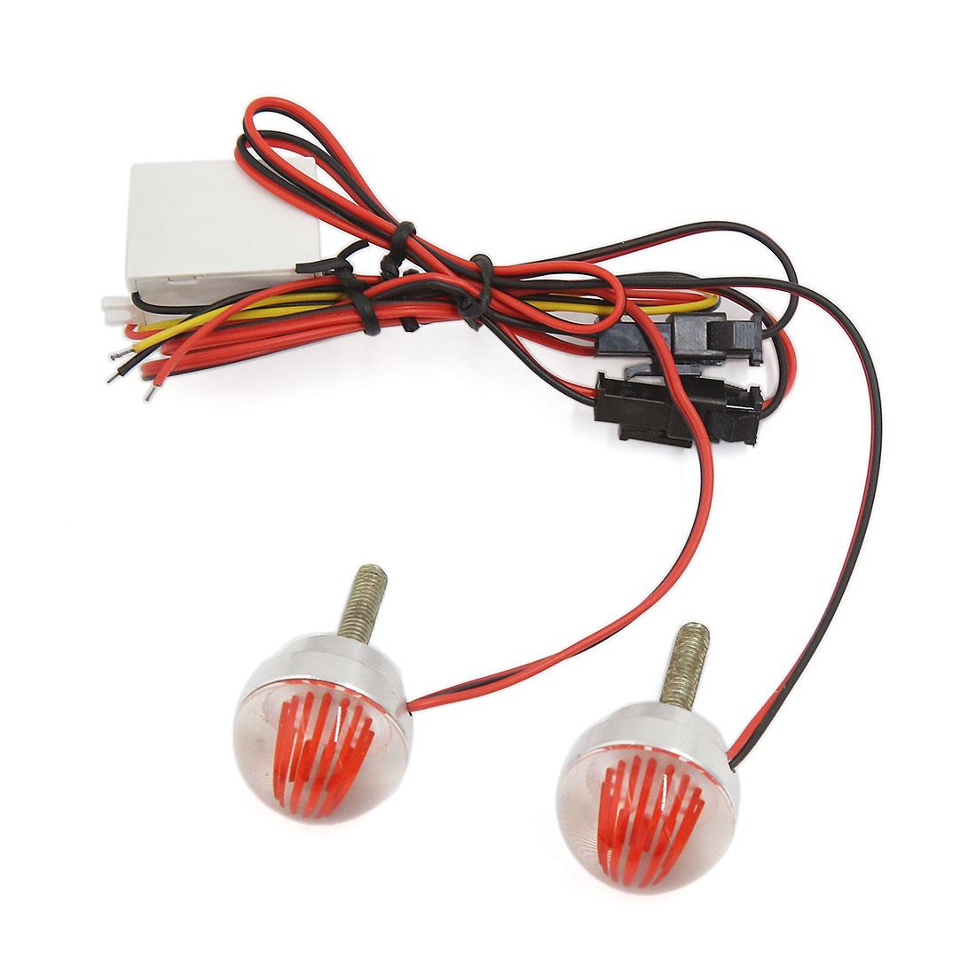 Universal Car Motorcycle Red LED Strobe Lamp Warning Flash Brake Light Pair