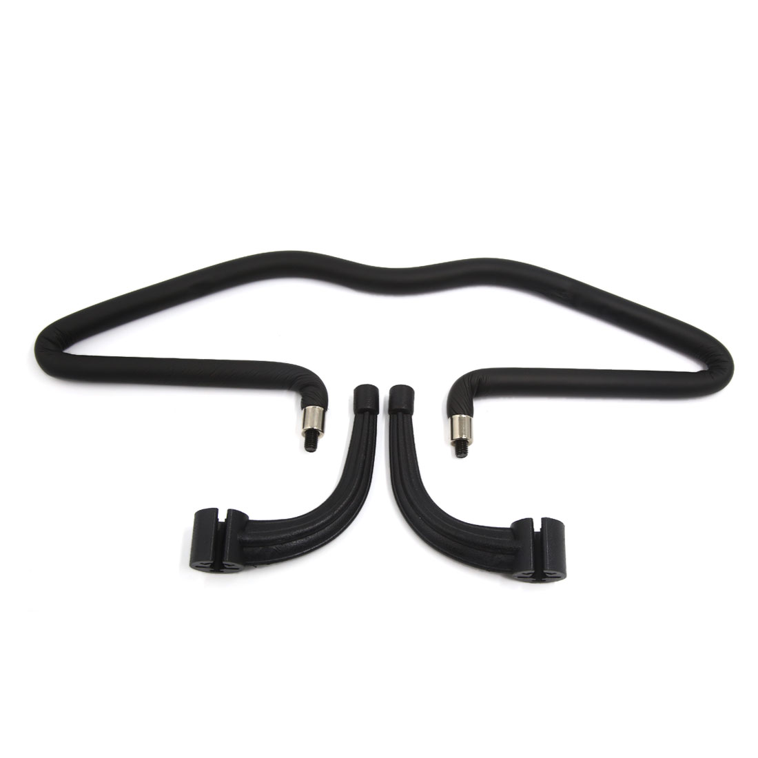 Black Rubber Seat Headrest Jacket Coat Suit Clothes Hanger Holder for Car