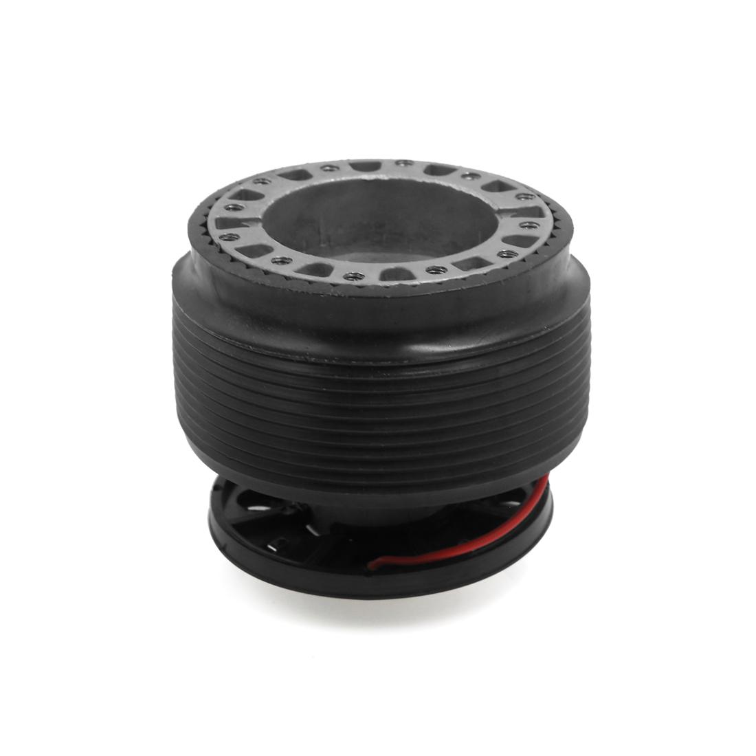 Car Black Aluminum Alloy Rubber Steering Wheel Hub Adapter Kit Base for Honda