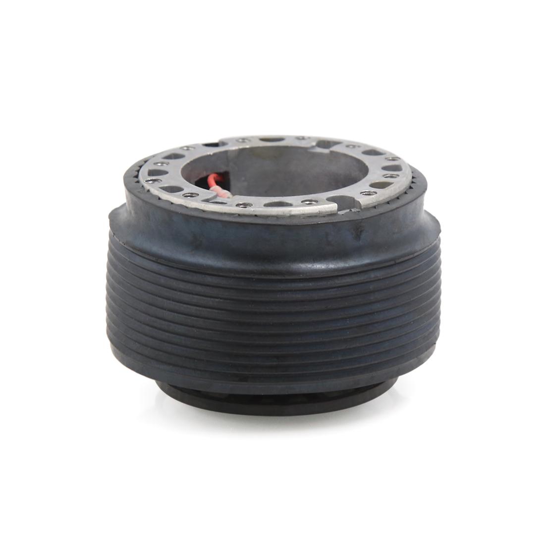 Car Black Aluminum Alloy Rubber Steering Wheel Hub Adapter Kit Base for Toyota