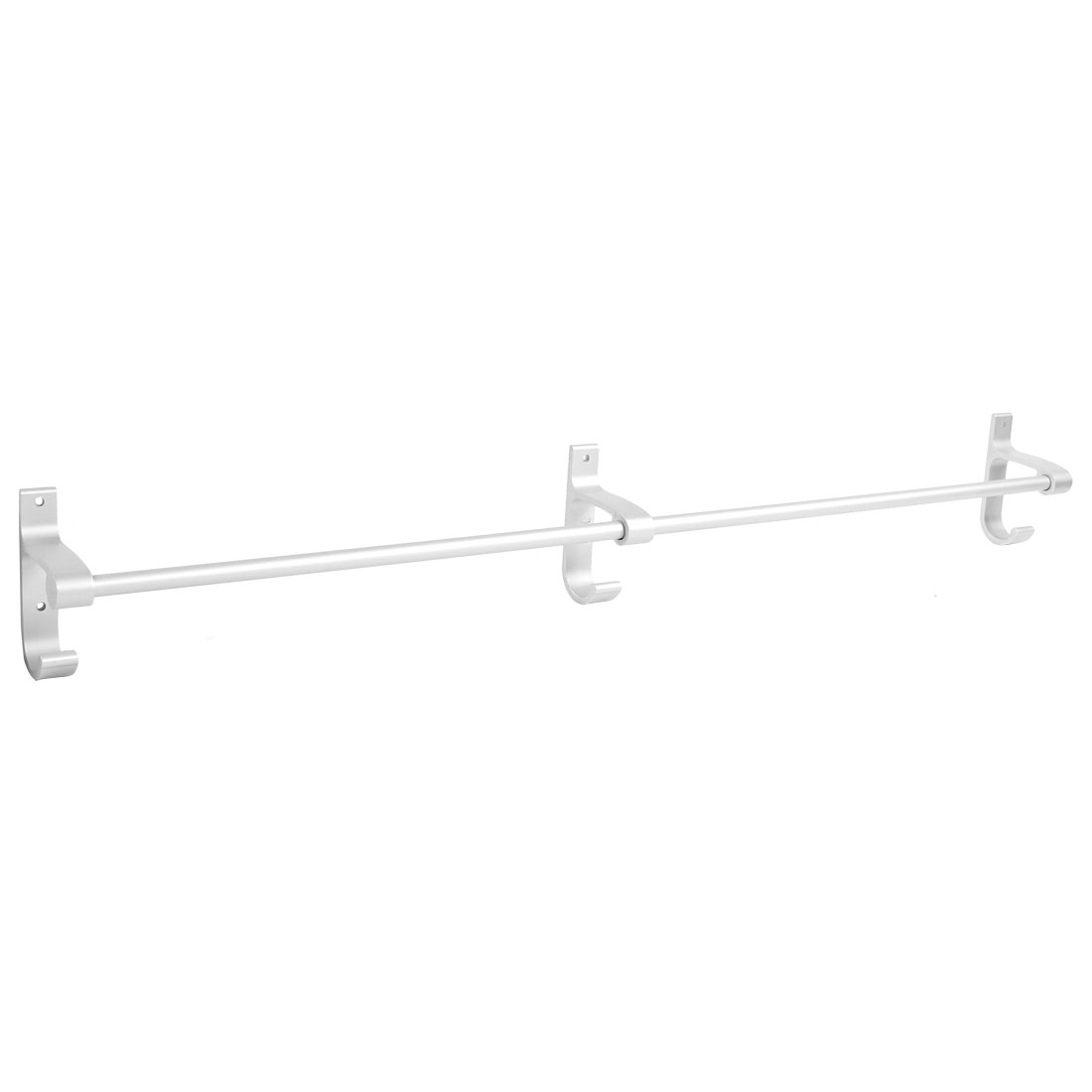 Hotel Home Bathroom Alumimum Wall Mount Single Bar Towel Rack Hanger 80cm Length