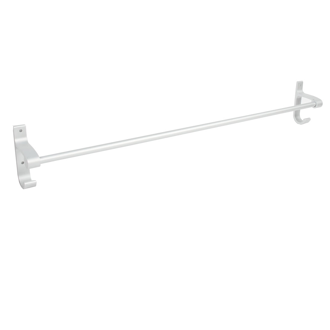 Hotel Home Bathroom Alumimum Wall Mount Single Bar Towel Rack Hanger 70cm Length