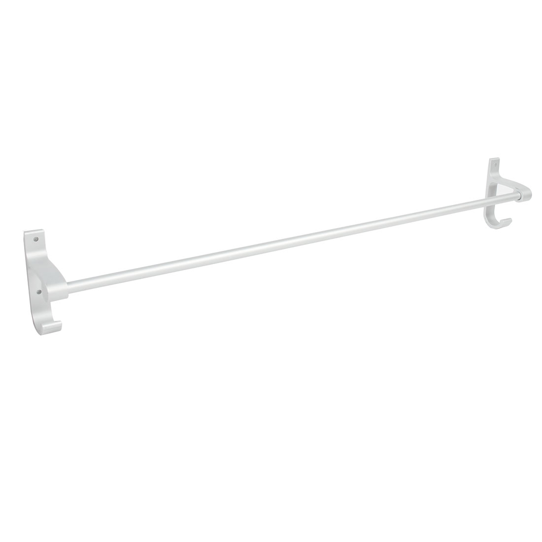 Hotel Home Bathroom Alumimum Wall Mount Single Bar Towel Rack Hanger 50cm Length