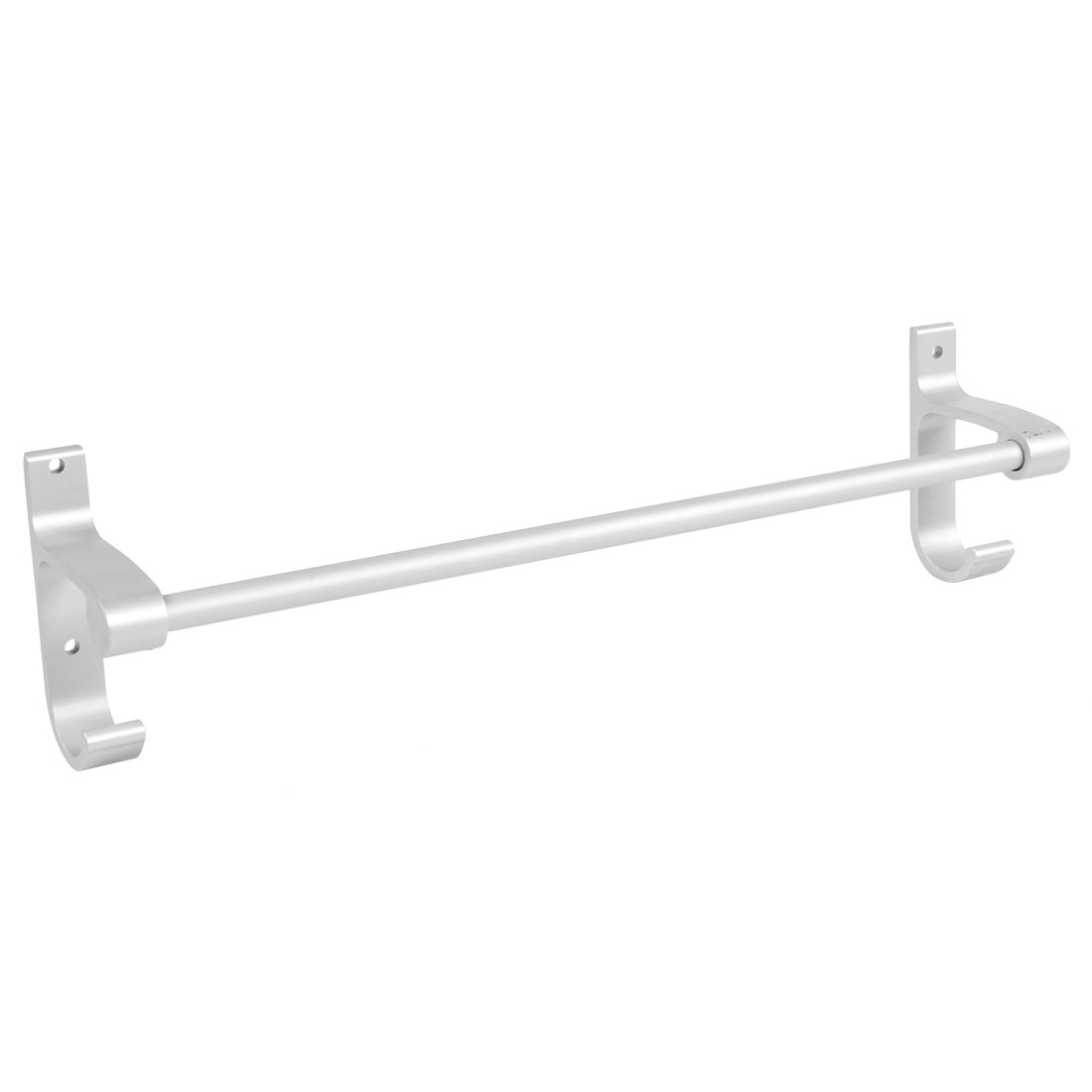 Hotel Home Bathroom Alumimum Wall Mount Single Bar Towel Rack Hanger 40cm Length