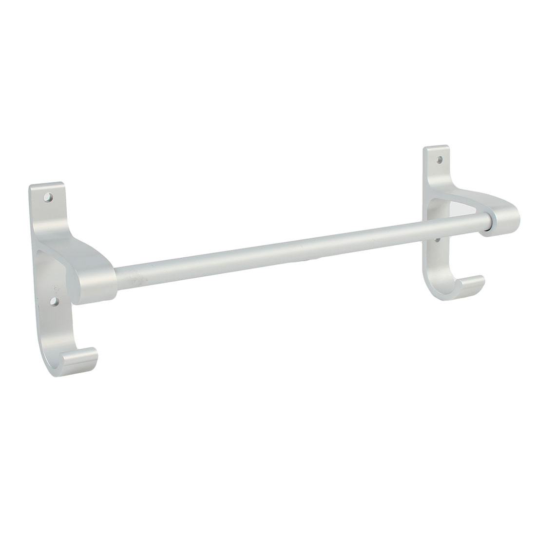 Hotel Home Bathroom Alumimum Wall Mount Single Bar Towel Rack Hanger 30cm Length