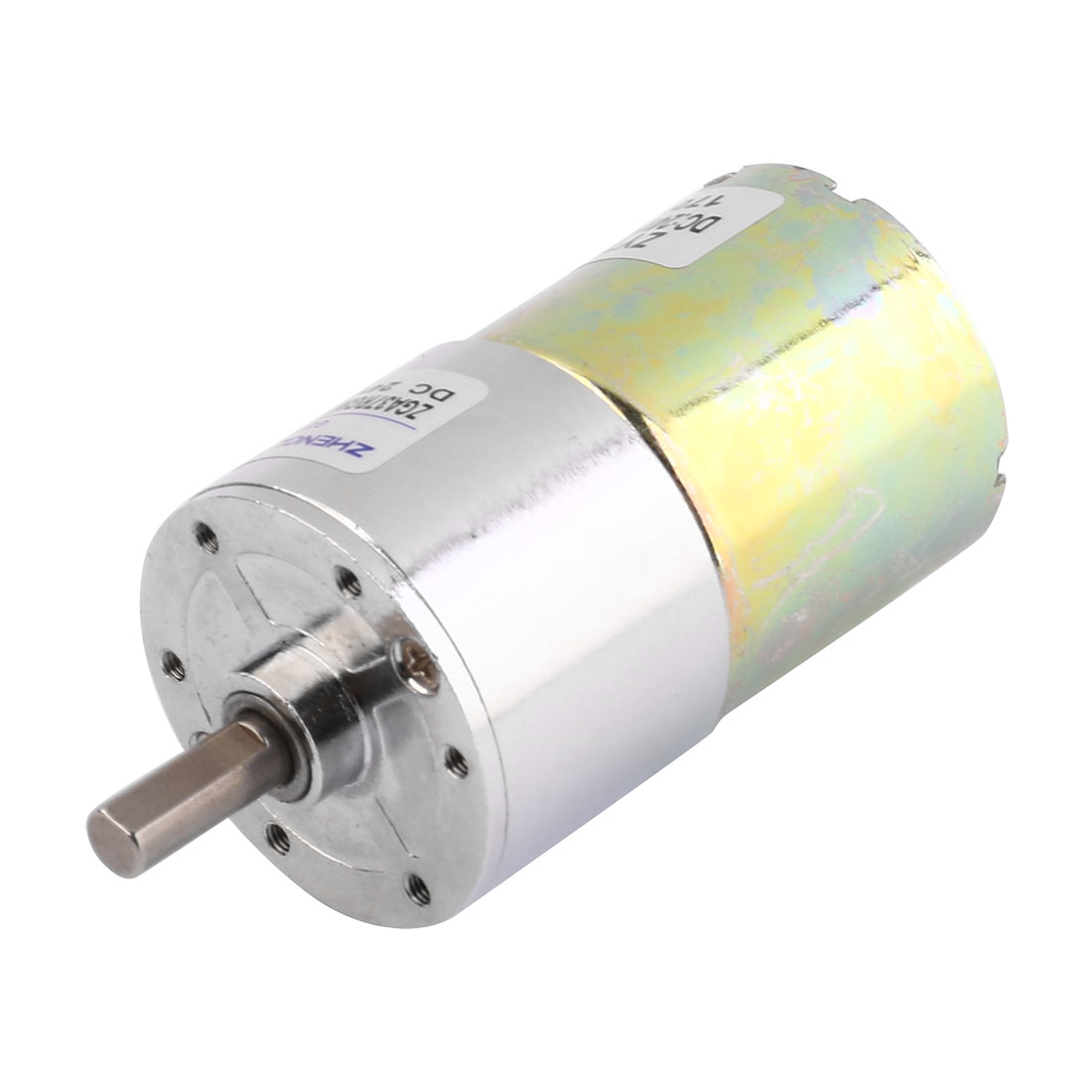 DC 24V 50RPM Micro Gear Box Motor Speed Reduction Electric Gearbox Centric Output Shaft
