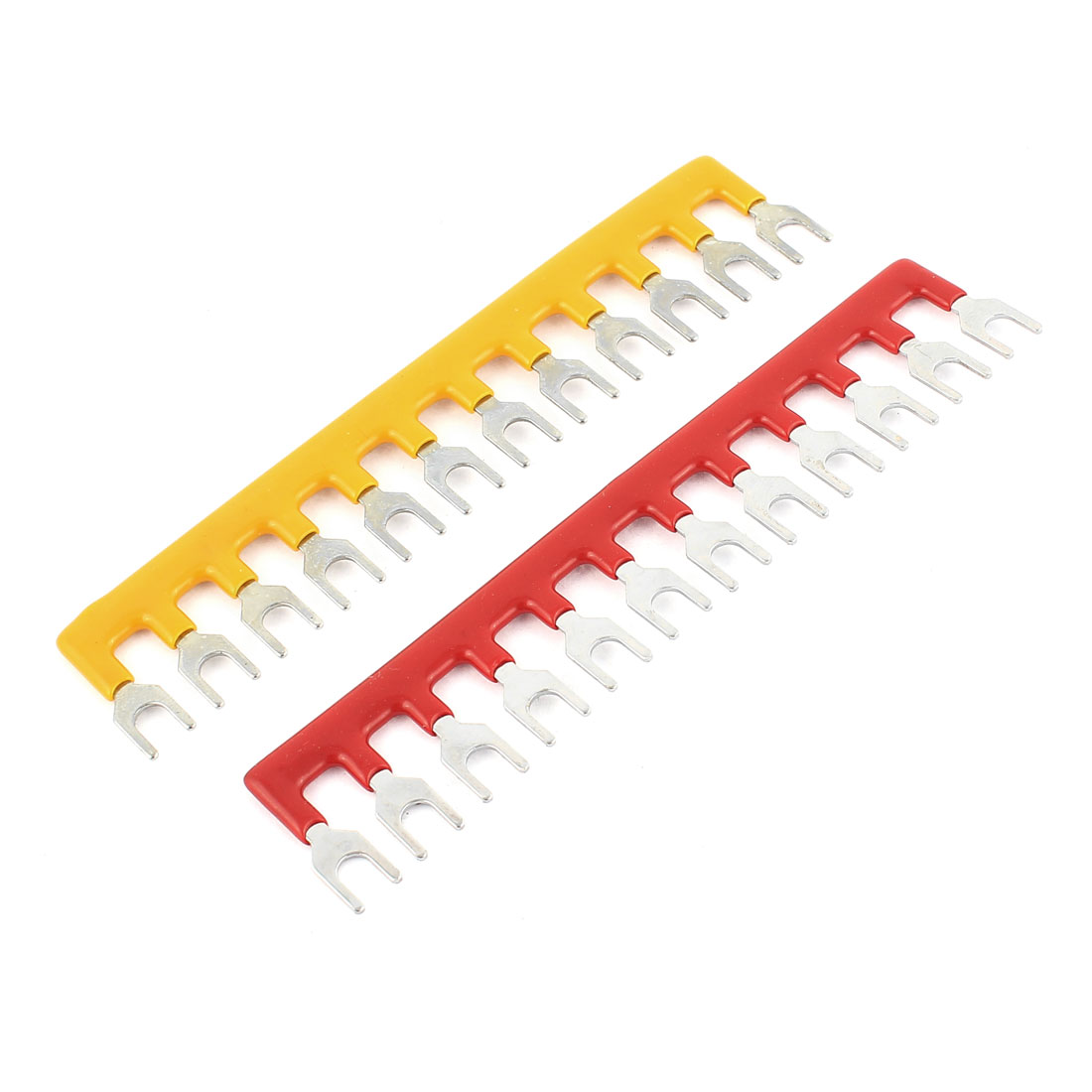 2 Pcs 12 Postions Pre Insulated Fork Type Barrier Spades Terminal Strips
