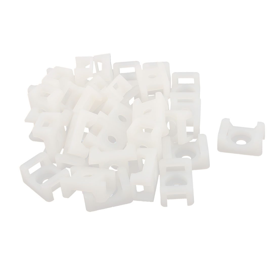 32 Pcs STM-2 Nylon Saddle Type Cable Tie Mount Holder Wire Organizers White