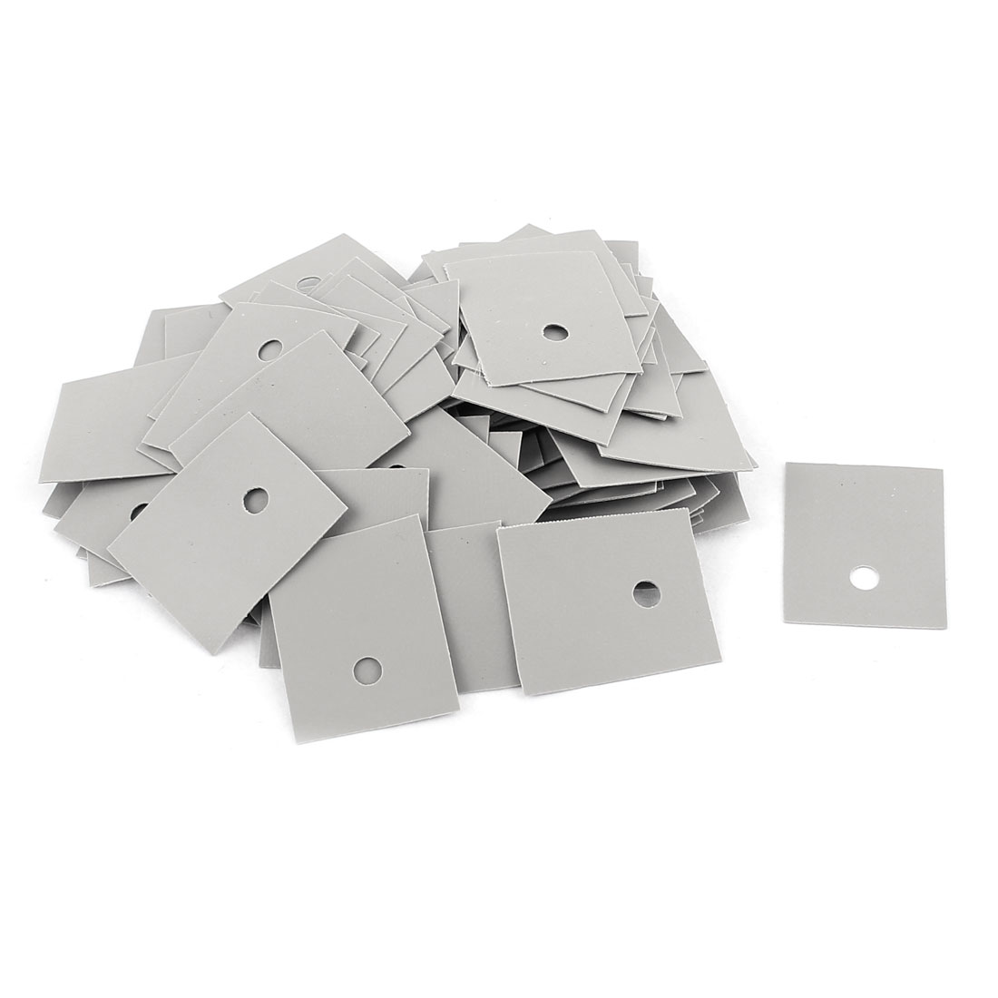100 Pcs 22mm x 18mm x 0.2mm Silicone Insulation Pad Sheet Grey Tone