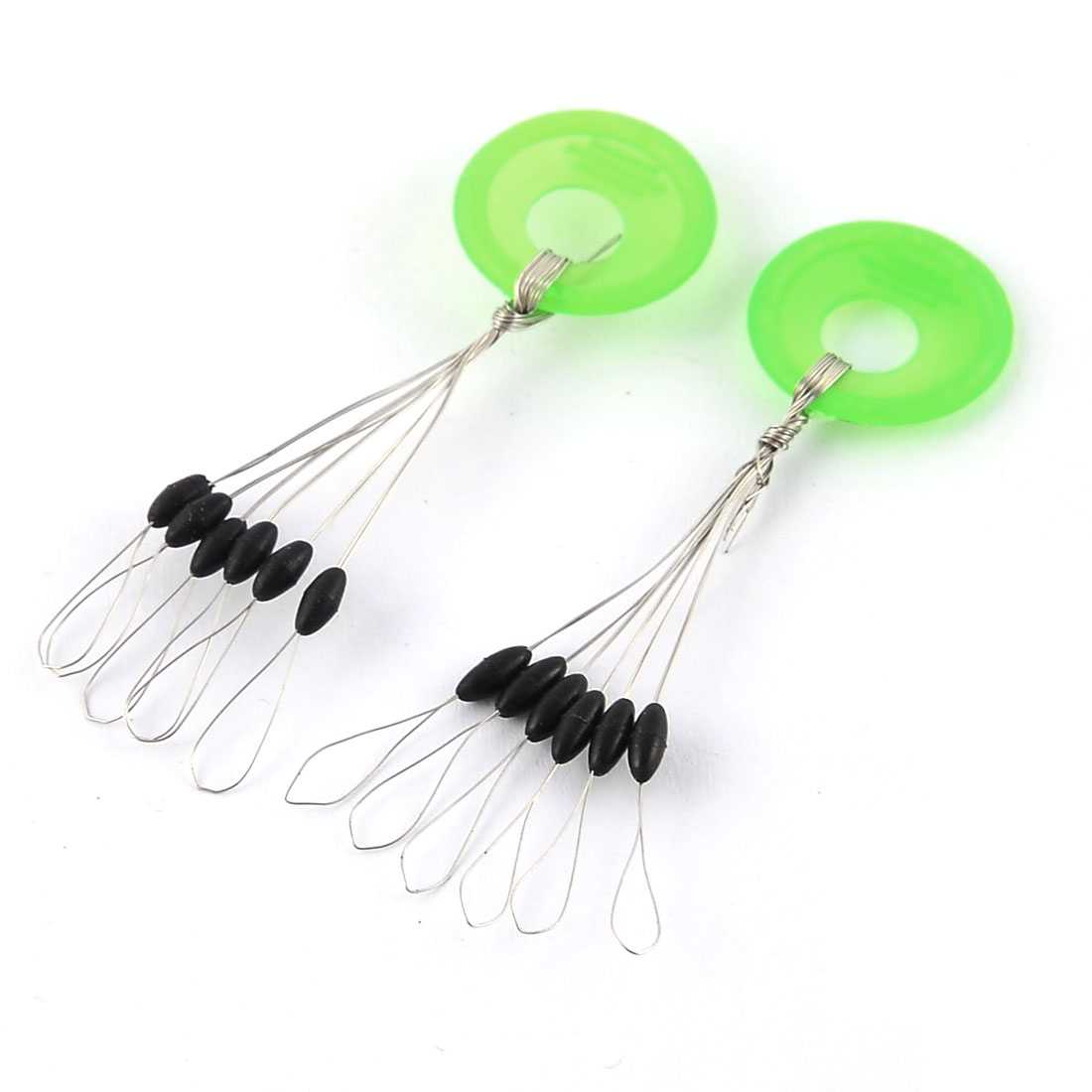 Outdoor Fishing Plastic Cylindrical Float Stoppers Sinker Floater Bobber 2pcs