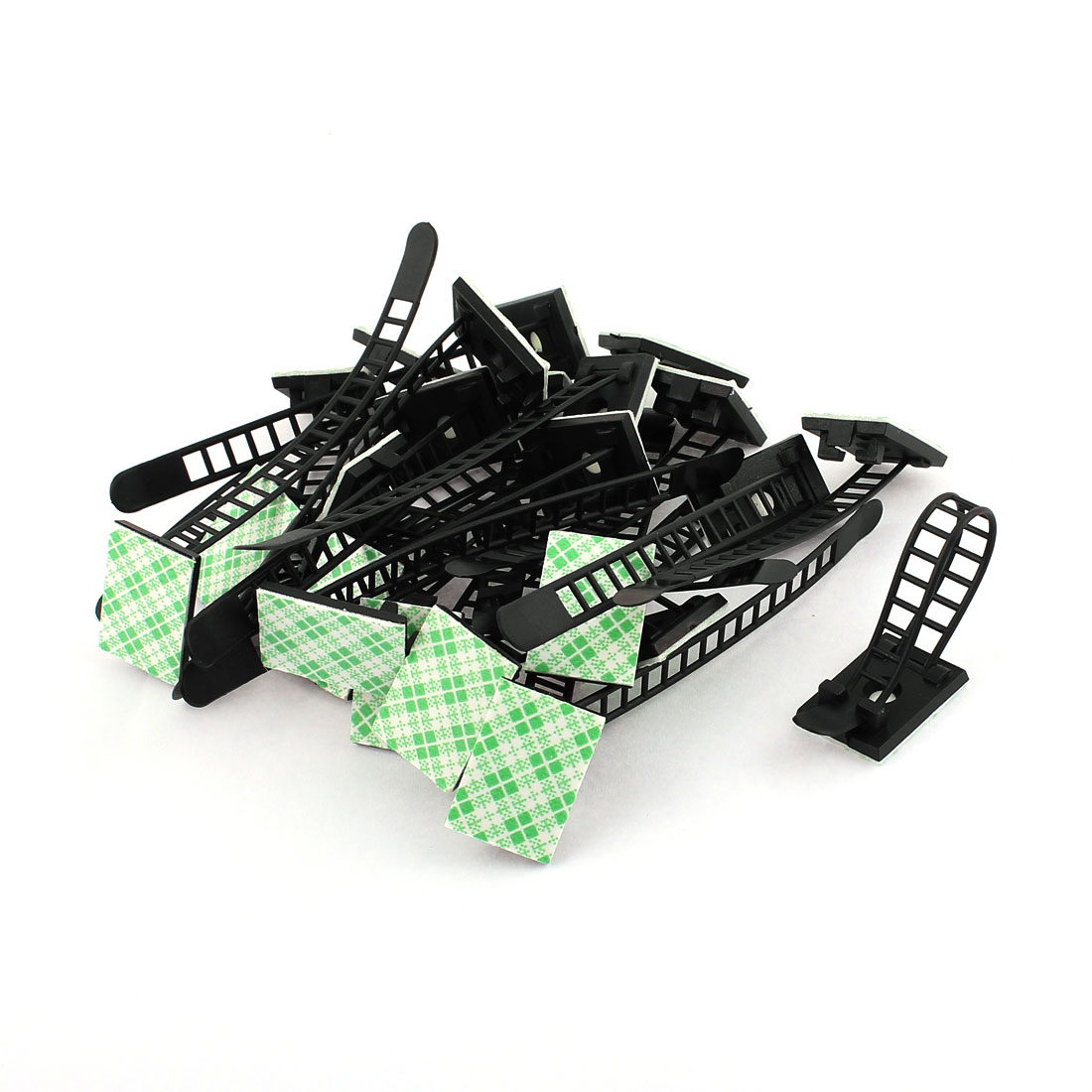 24 Pcs Plastic Adjustable Self-Adhesive Cable Tie Mount Base Holder