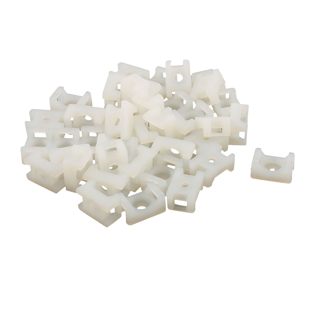 15 x 9mm Cable Tie Mount Wire Saddle Type Plastic Holder 40 Pcs White