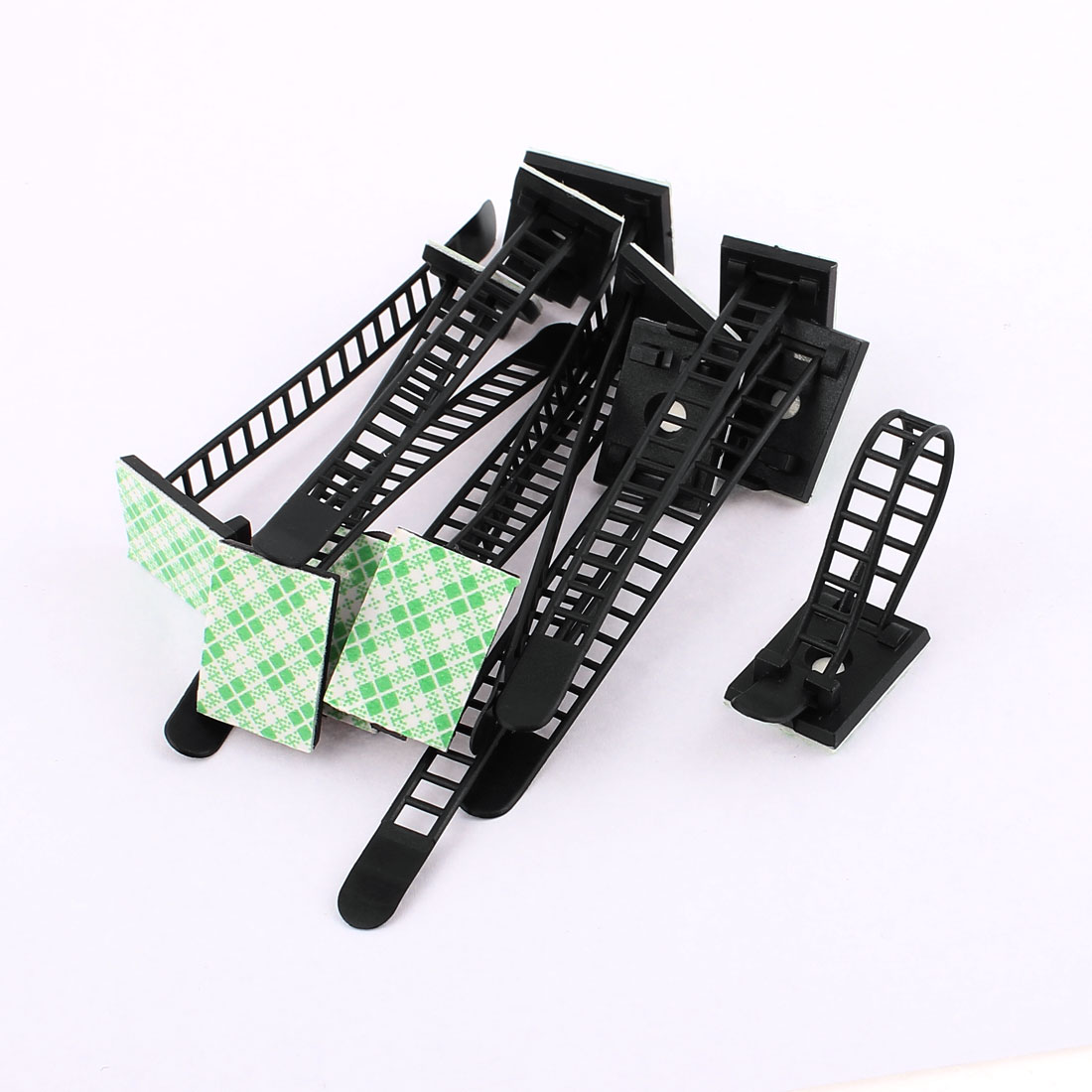 12 Pcs Plastic Adjustable Self-Adhesive Cable Tie Mount Base Holder