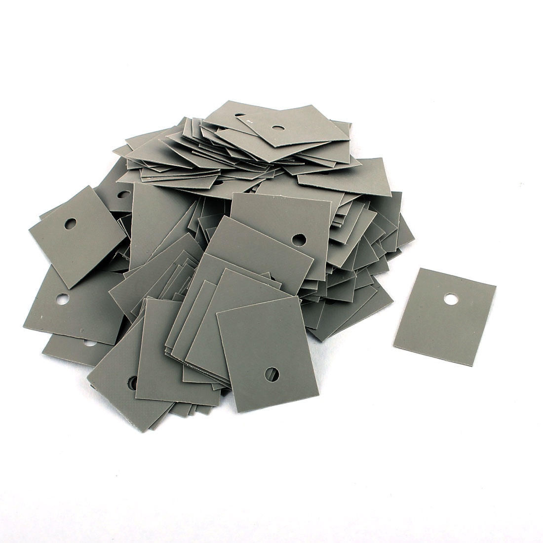 150 Pcs 22mm x 18mm x 0.2mm Silicone Thermal Insulation Pad Sheet TO-3P1