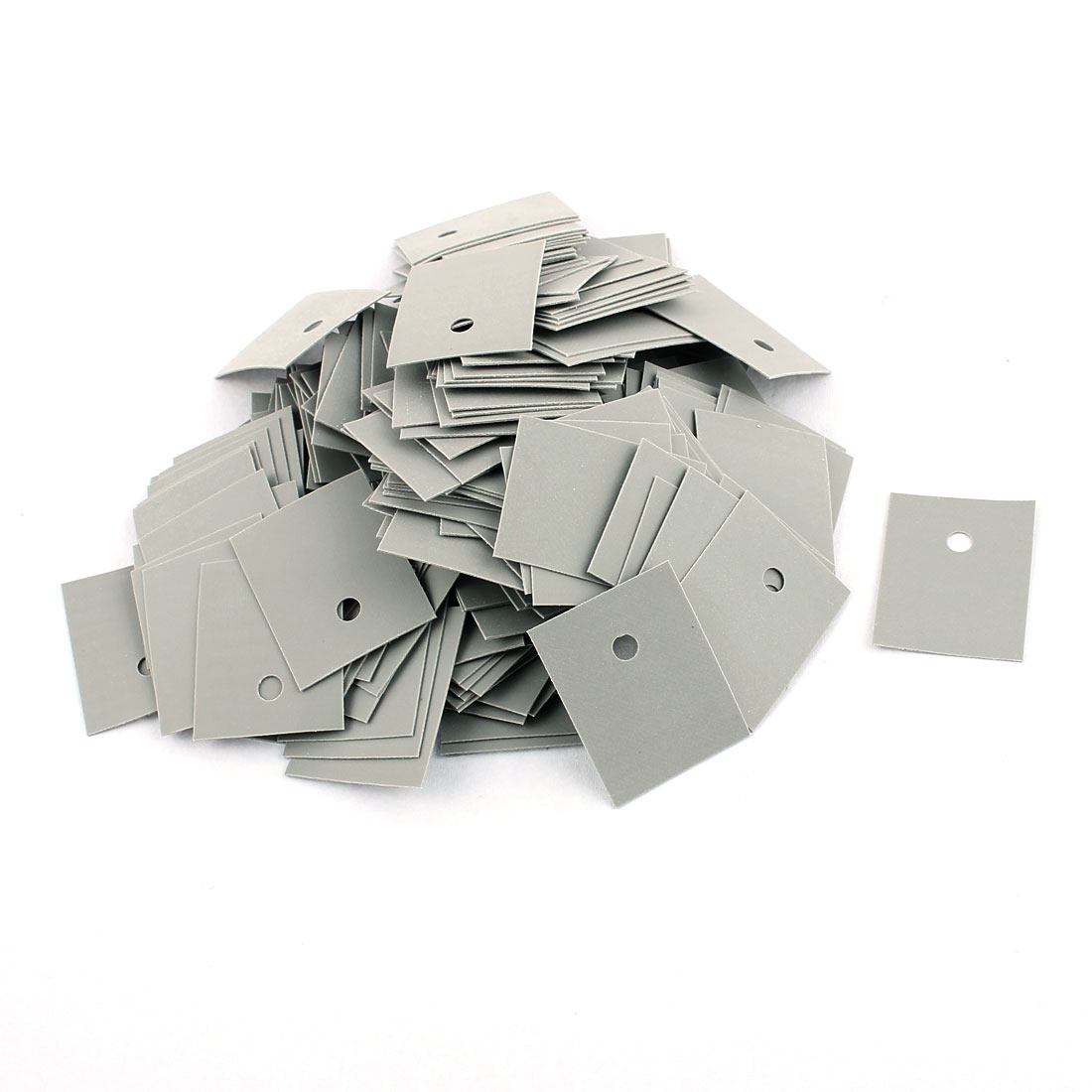 250 Pcs 25mm x 20mm x 0.3mm Silicone Thermal Insulation Pad Sheet TO-3P