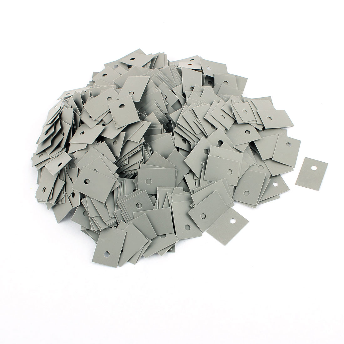 1000 Pcs 18mm x 13mm x 0.3mm Silicone Thermal Insulation Pad Sheet TO-220