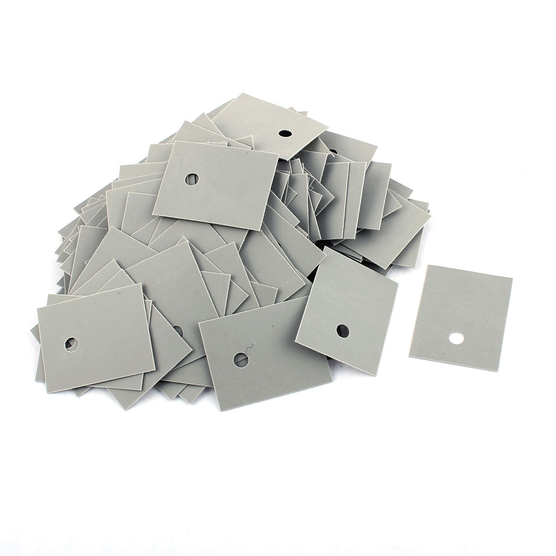 150 Pcs 25mm x 20mm x 0.3mm Silicone Thermal Insulation Pad Sheet