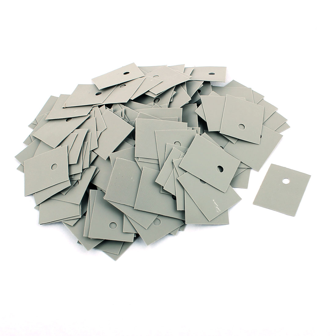 250 Pcs 22mm x 18mm x 0.2mm Silicone Thermal Insulation Pad Sheet