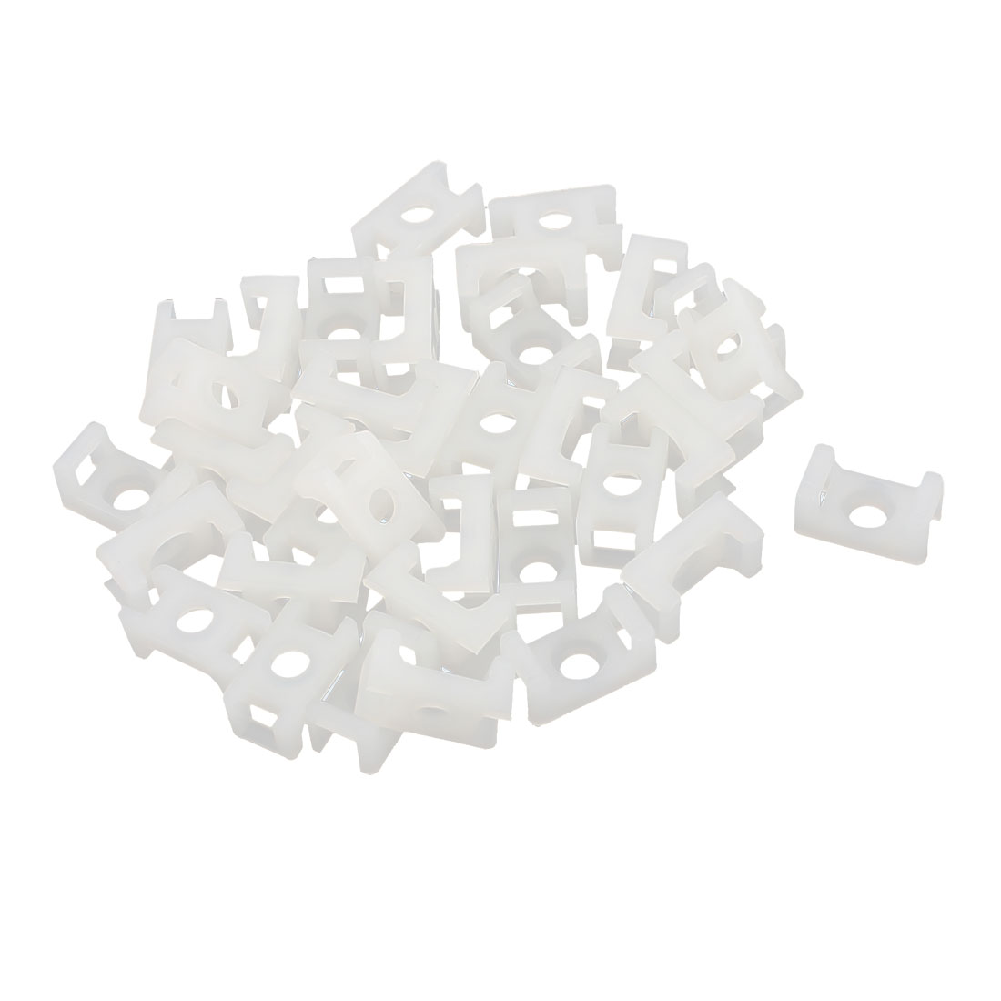 36 Pcs STM-0 12.6 x 7 x 6mm Cable Tie Mount Wire Saddle Type Plastic Holder