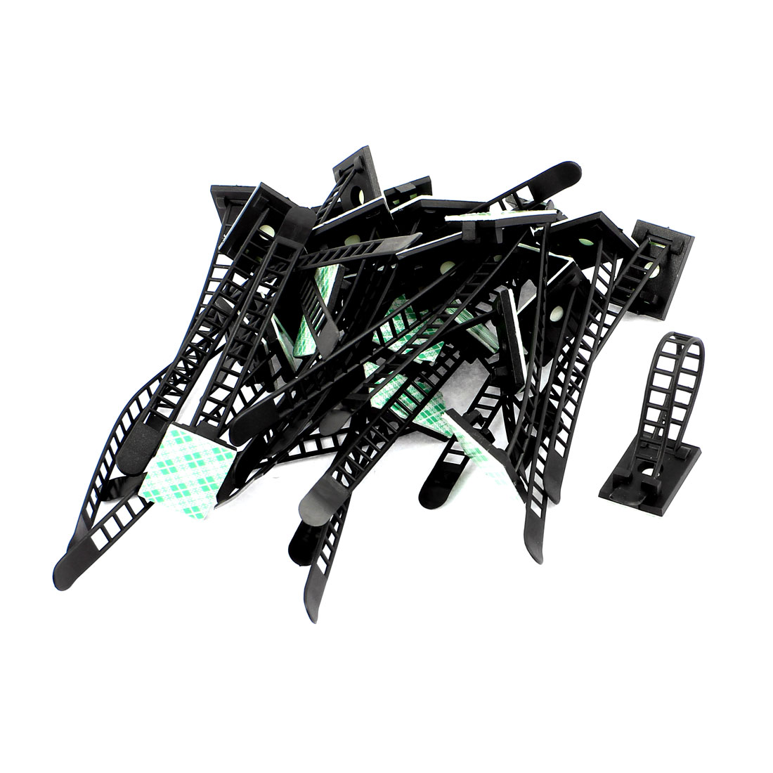 31 Pcs ATC-17 Plastic Adjustable Self-Adhesive Cable Tie Mount Base Holder
