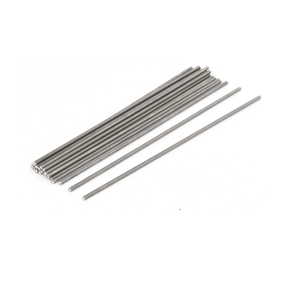 M3 x 170mm 0.5mm Pitch 304 Stainless Steel Fully Threaded Rods Bar Studs 20 Pcs