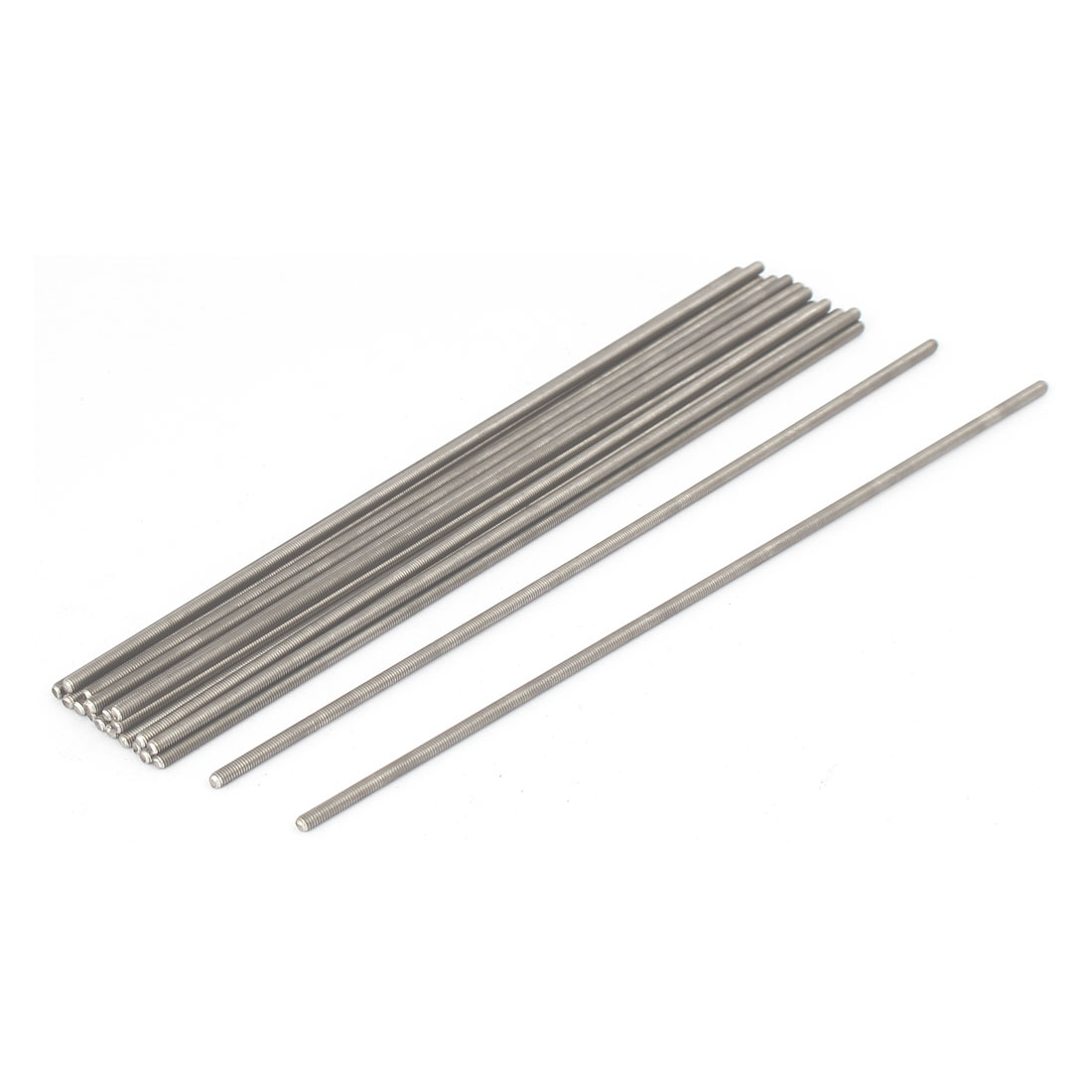 M3 x 180mm 0.5mm Pitch 304 Stainless Steel Fully Threaded Rods Fasteners 20 Pcs