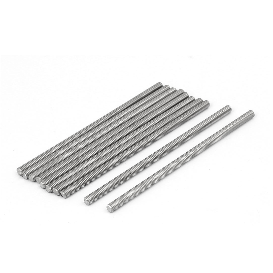 M4 x 90mm 304 Stainless Steel Fully Threaded Rod Bar Studs Fasteners 10 Pcs