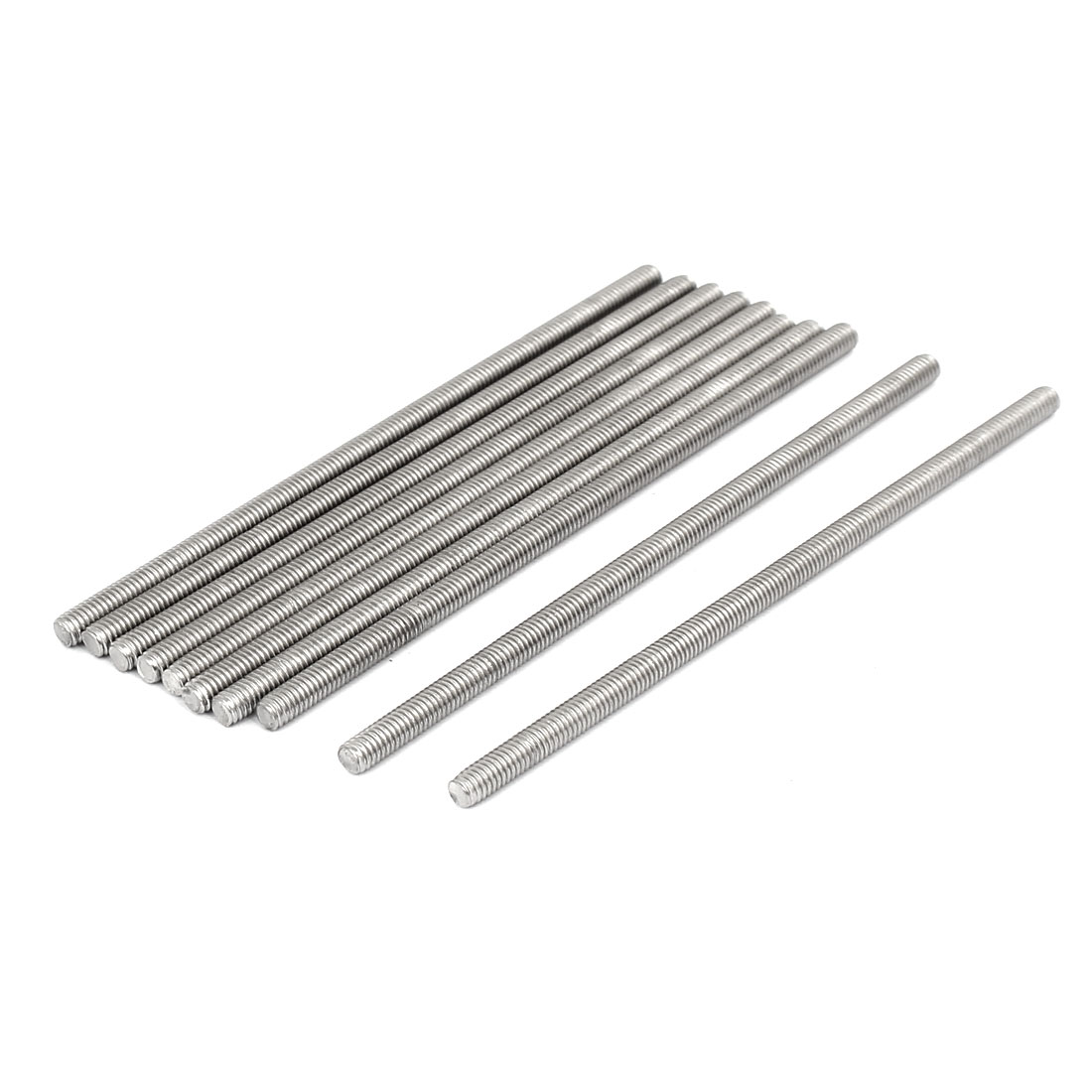 M4 x 100mm 304 Stainless Steel Fully Threaded Rod Bar Studs Fastener 10 Pcs