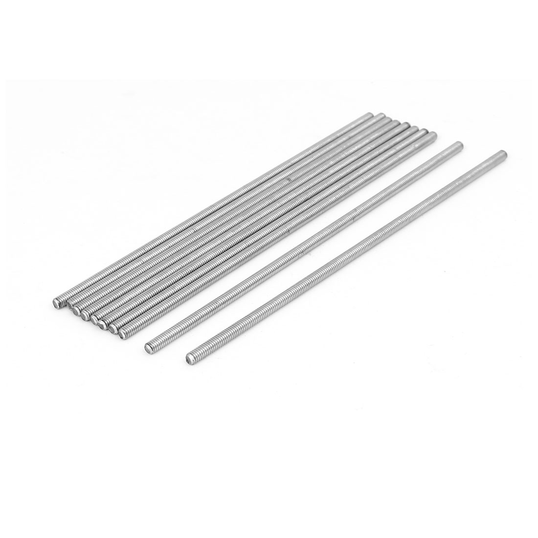 M4 x 150mm 0.7mm Pitch 304 Stainless Steel Fully Threaded Rod Silver Tone 10 Pcs
