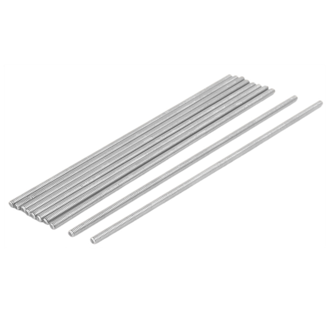 M4 x 160mm 304 Stainless Steel Fully Threaded Rod Bar Studs Hardware 10 Pcs