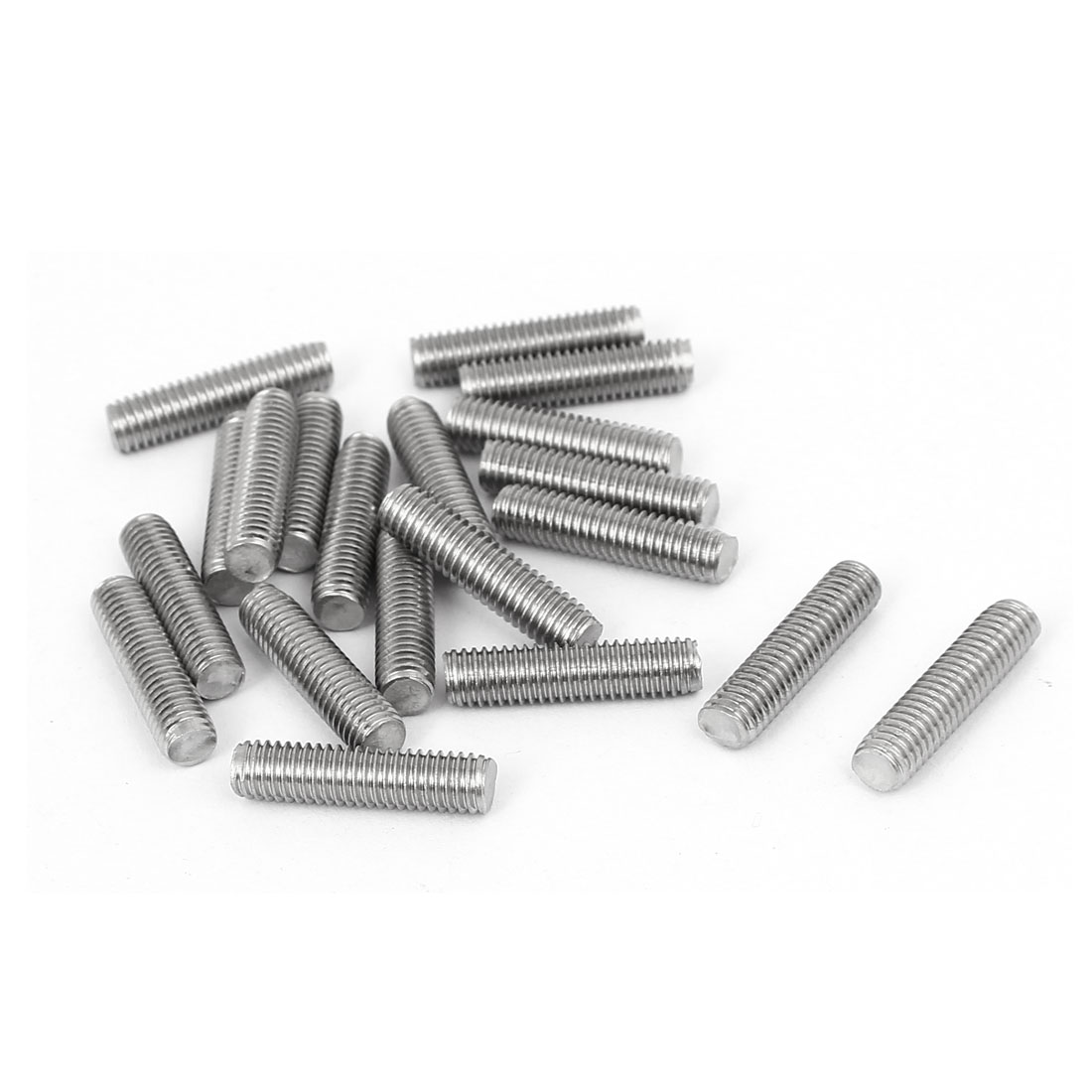 M5 x 20mm 304 Stainless Steel Fully Threaded Rod Bar Studs Fastener 20 Pcs