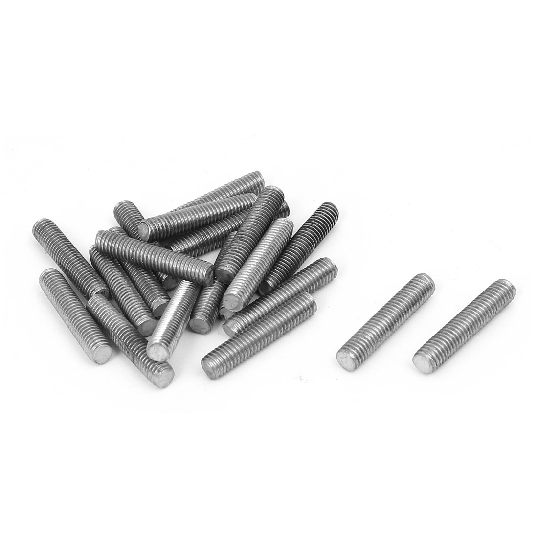 M5 x 25mm 0.8mm Pitch 304 Stainless Steel Fully Threaded Rod Bar Studs 20 Pcs