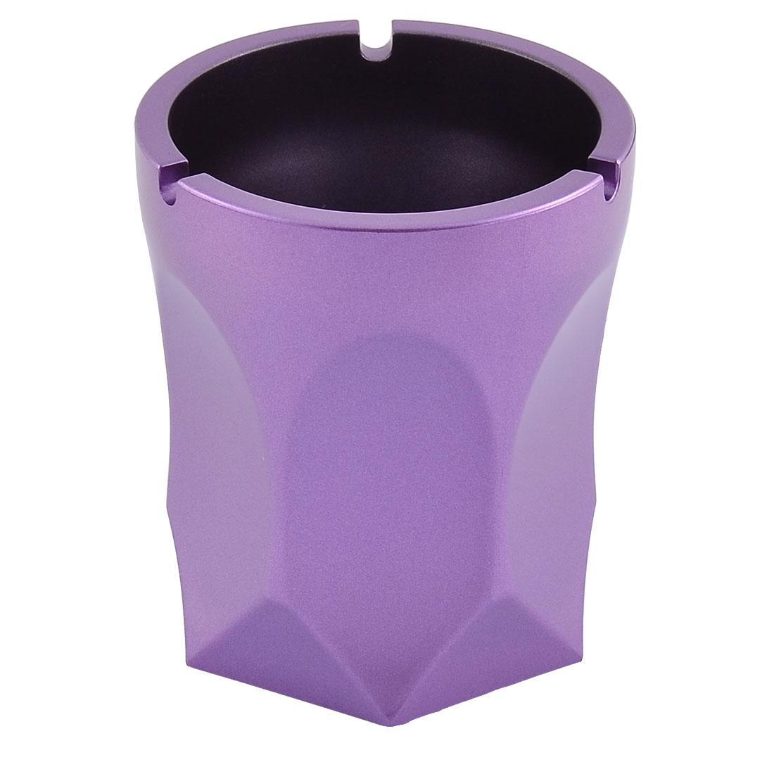 Hotel Bar Aluminium Alloy Rhomb Smoke Cigarette Ash Container Ashtray Purple