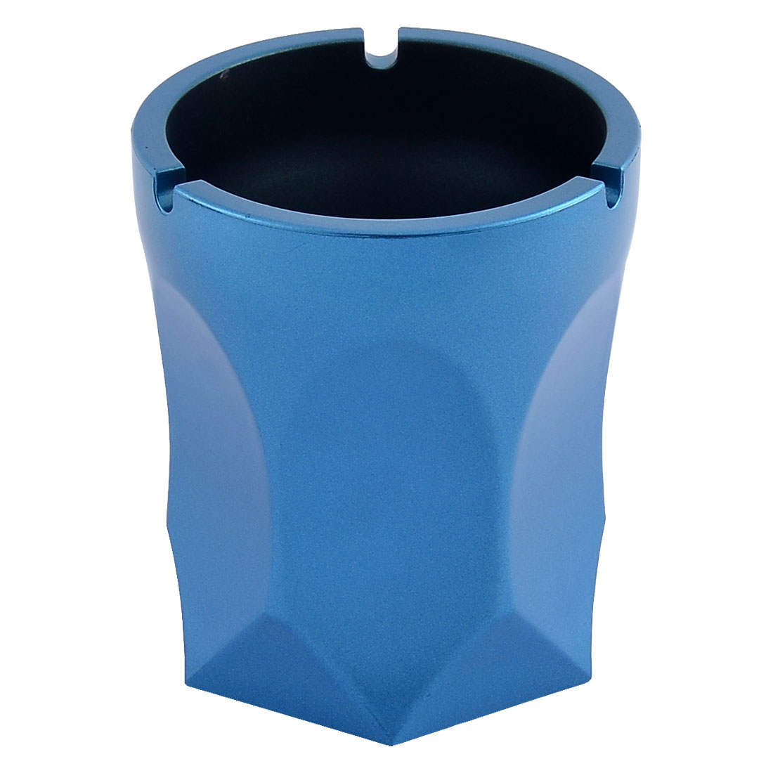Hotel Bar Aluminium Alloy Rhomb Smoke Cigarette Ash Container Ashtray Blue