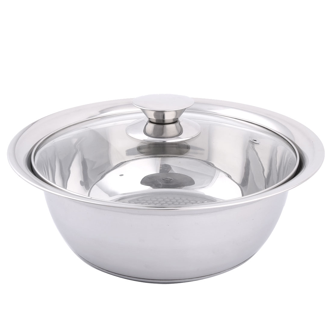 Household Kitchen Glass Lid Stainless Steel Cookware Stockpot Pot 24cm Dia