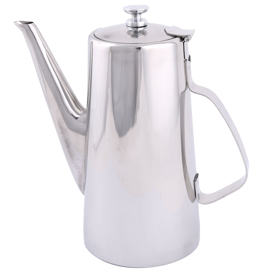Household Stainless Steel Coffee Tea Water Pot Teapot Kettle Silver Tone 2L