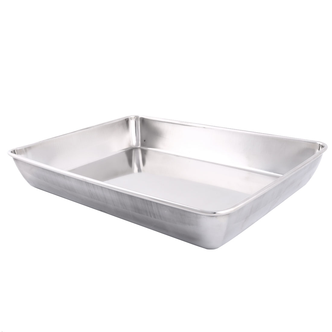 Home Stainless Steel Rectangle Shaped Hand Towel Napkin Tissue Plate Dish Tray