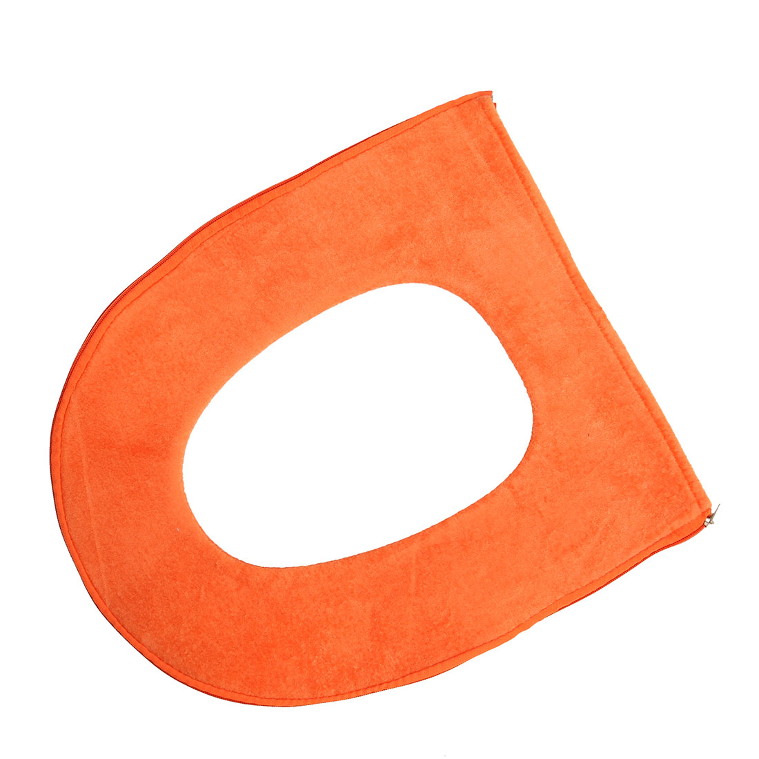 Bathroom Polyester Closestool Lid Soft Mat Pad Toilet Seat Cover Cushion Orange