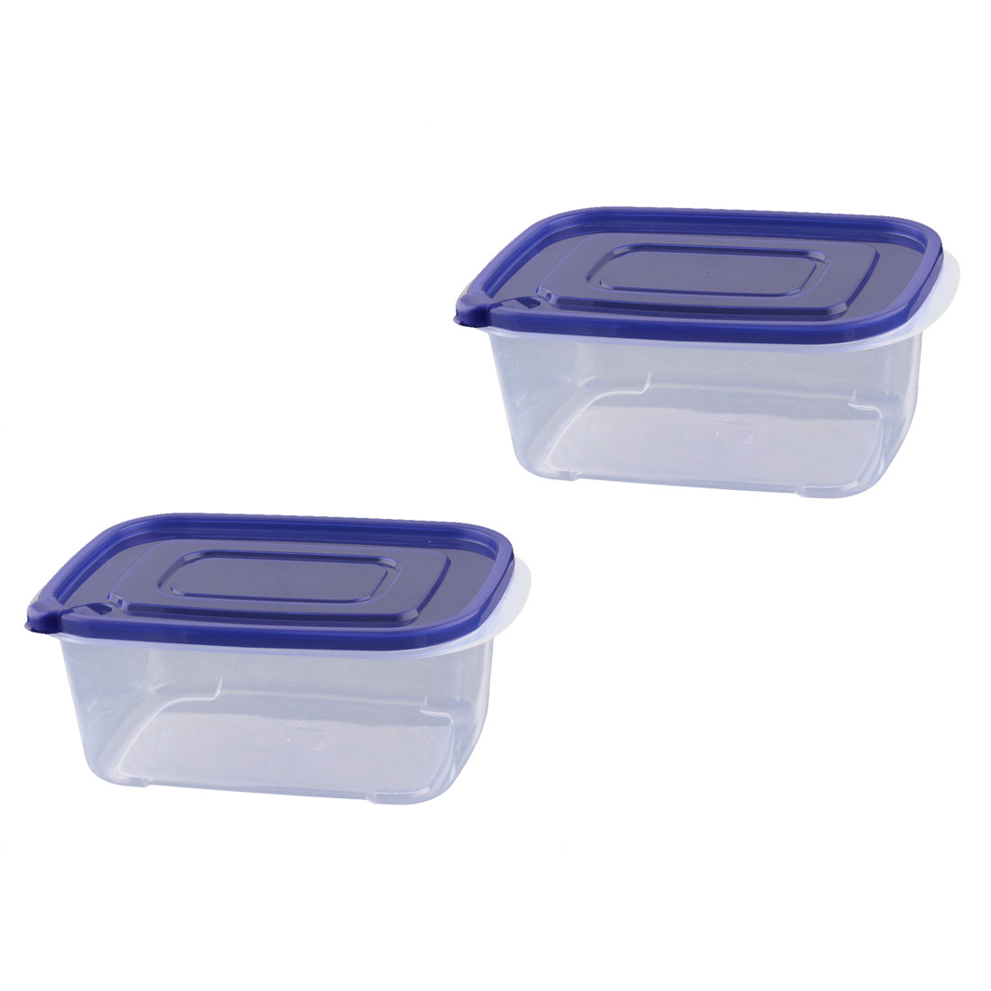 kitchen Plastic Rectangle Airtight Heatable Food Storage Box Container 2pcs