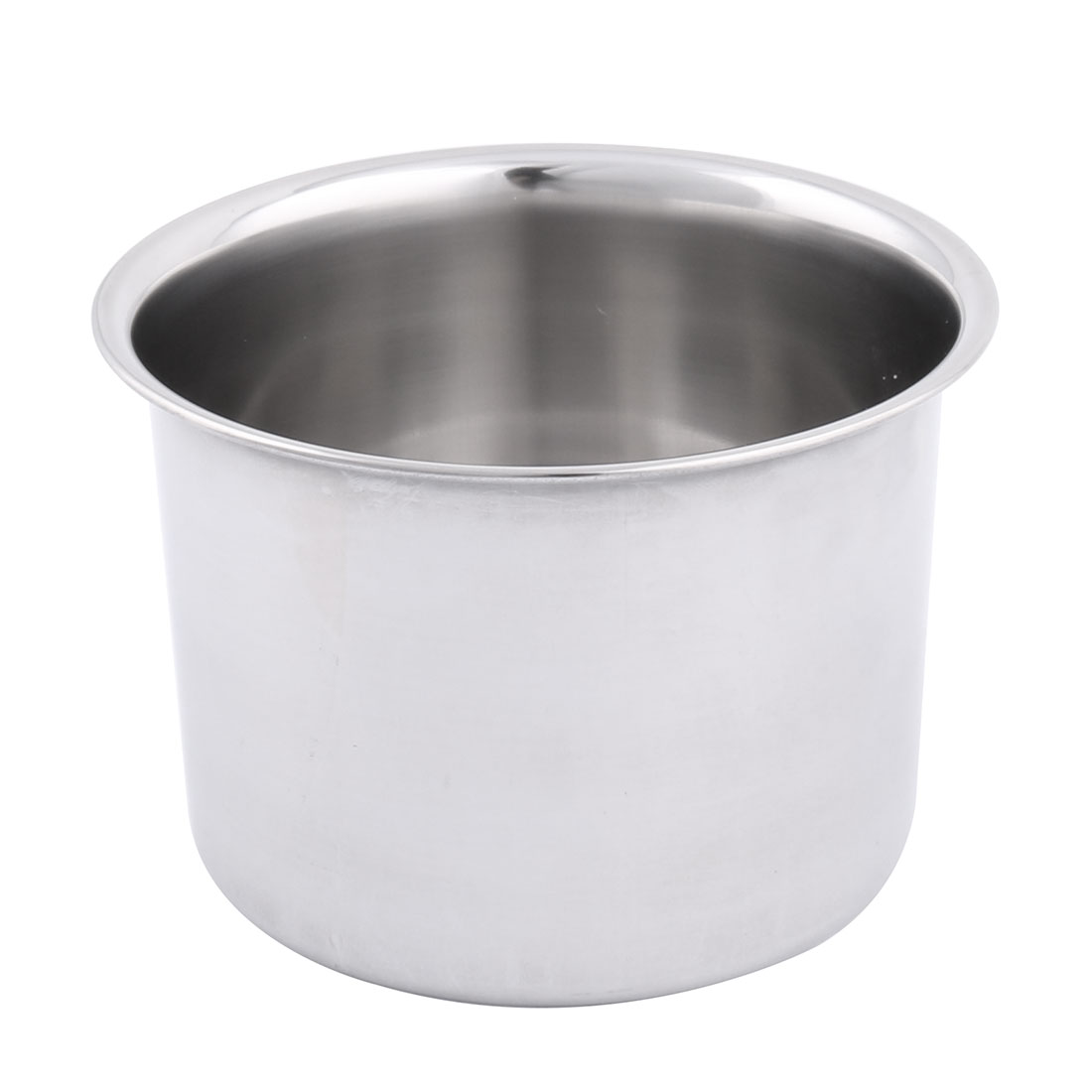 Home Restaurant Stainless Steel Round Design Porridge Food Soup Dish Plate 10cm Dia