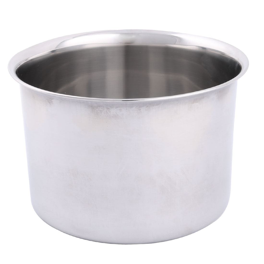 Home Restaurant Stainless Steel Round Design Porridge Food Soup Dish Plate 18cm Dia