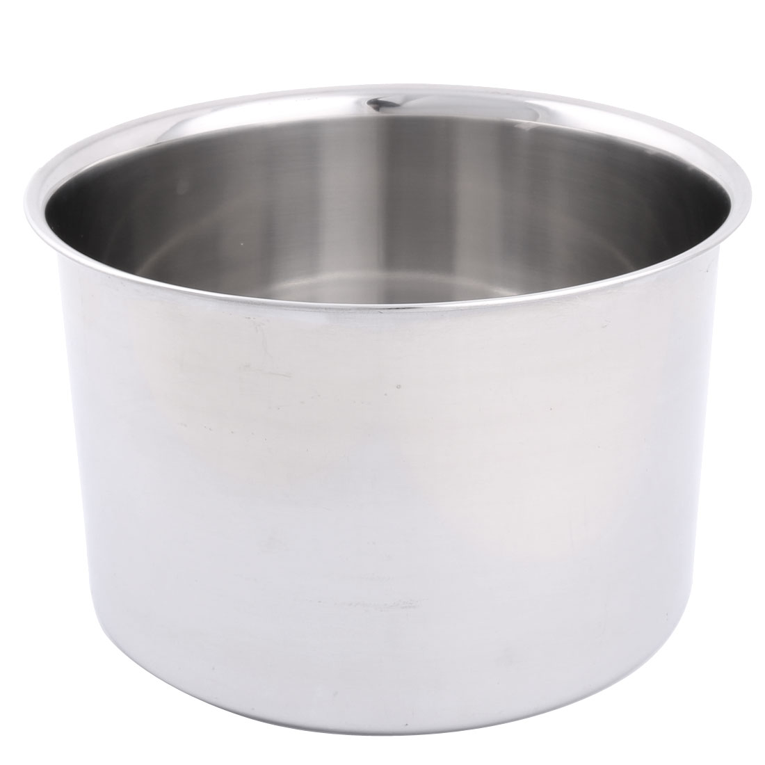 Home Restaurant Stainless Steel Round Design Porridge Food Soup Dish Plate 20cm Dia