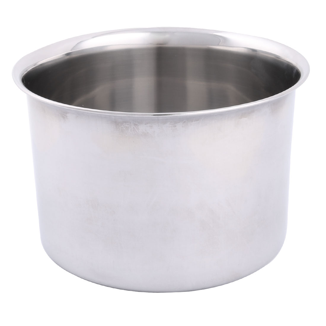 Home Restaurant Stainless Steel Round Design Porridge Food Soup Dish Plate 22cm Dia