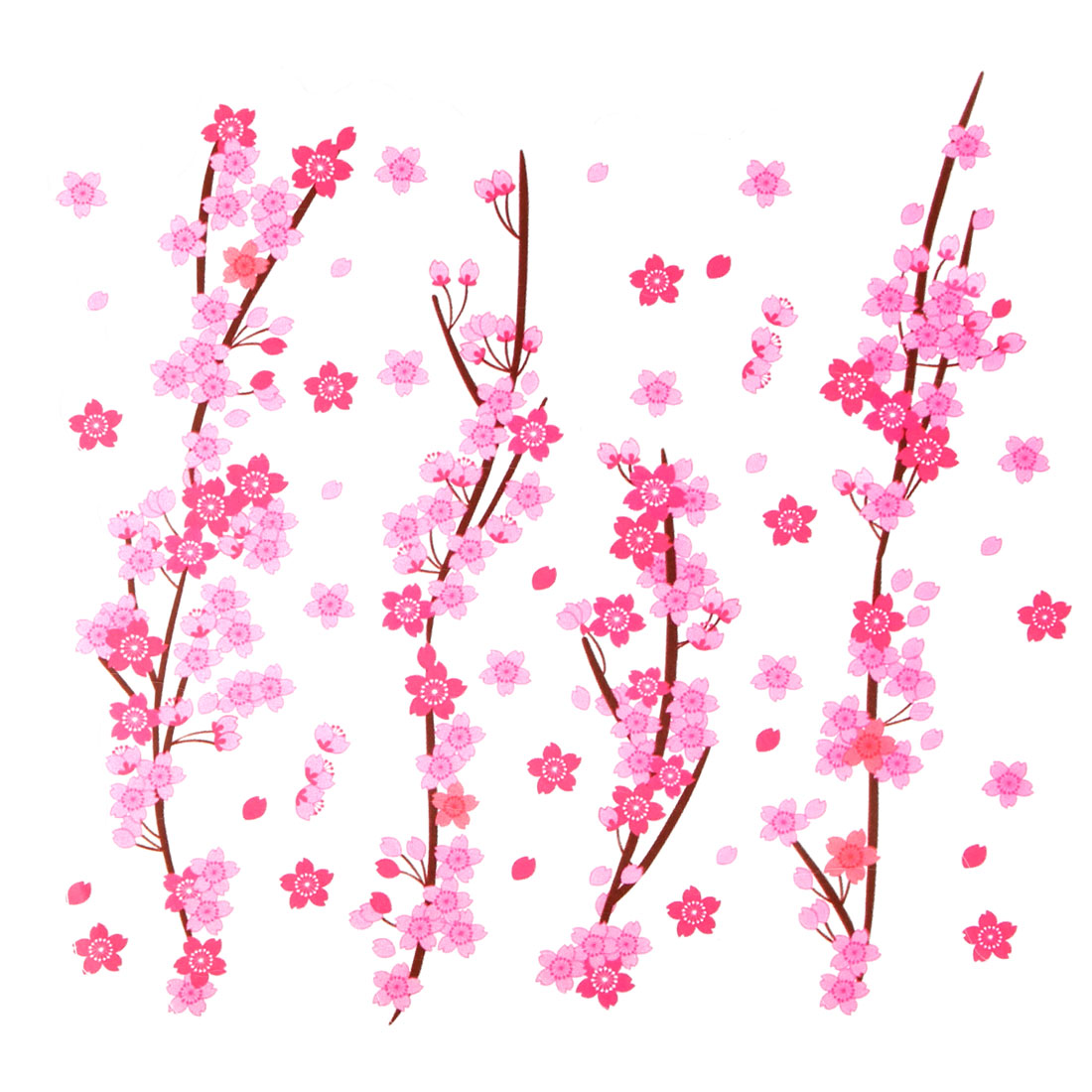 Peach Blossom Printed Removable Wall Sticker Decal Mural Art Ornament