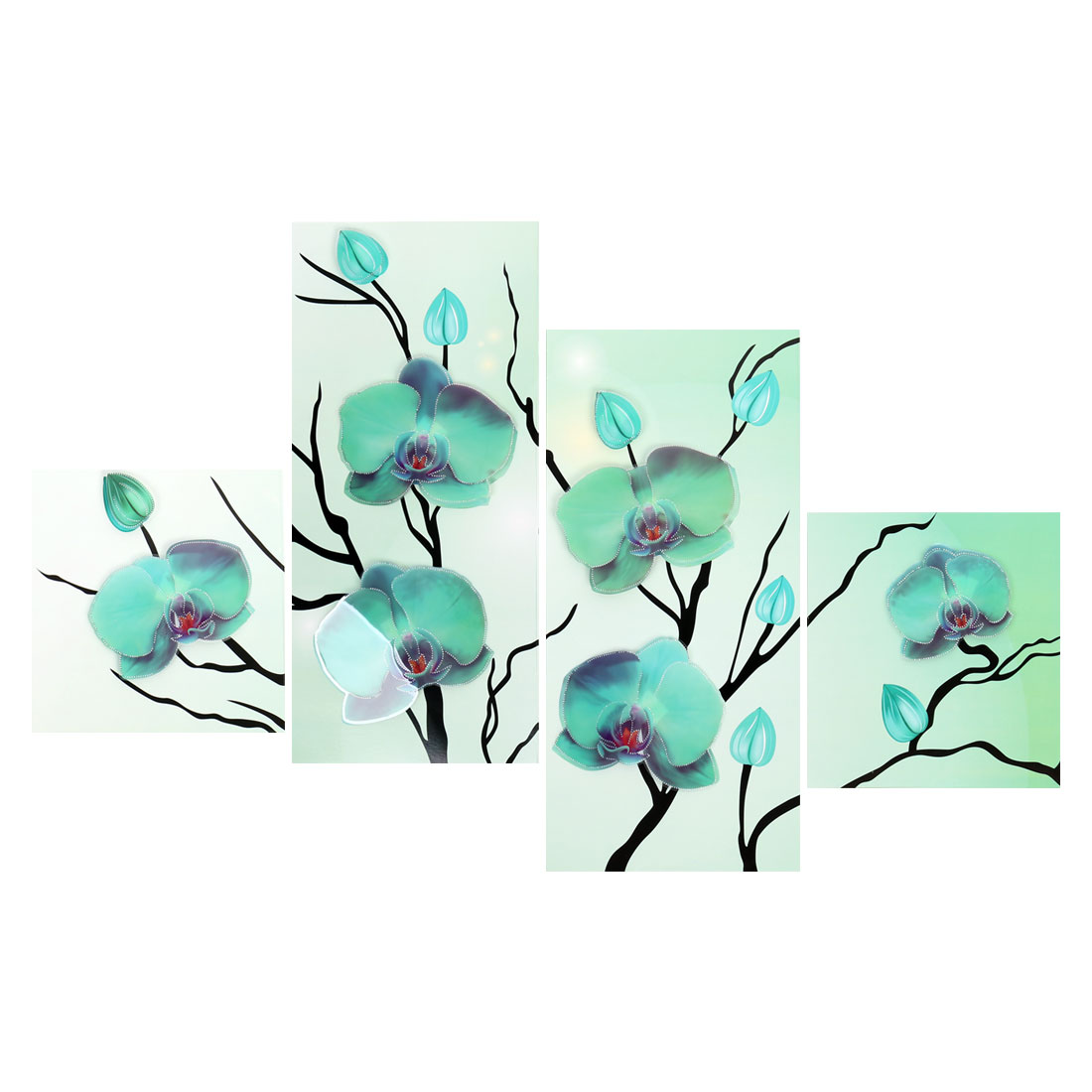 Flower Pattern Removable Self Adhesive 3D Wall Sticker Decal Mural Rome Decor
