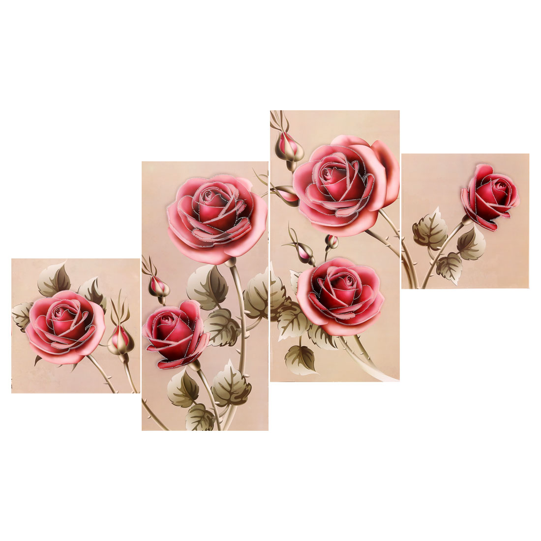 Living Room Rose Pattern Removable 3D Wall Sticker Decal Mural Art Decoration